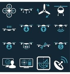 Quadcopter service icon set vector