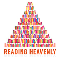 Reading heavenly colorful books stacks vector