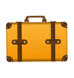 Realistic silhouette of leather suitcase vector