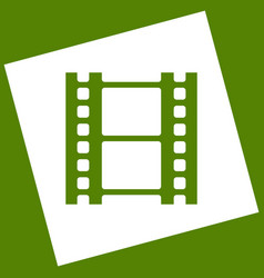 Reel of film sign white icon obtained as vector