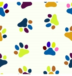 Seamless paw child pet zoo pattern vector