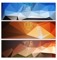 Set of polygon banners vector image