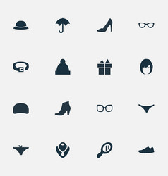 Set of simple dress icons vector