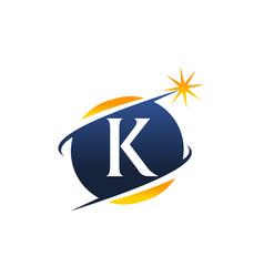 Swoosh logo letter k vector