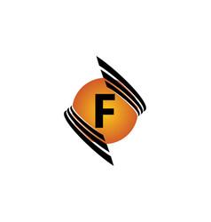 Technology letter f vector