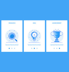 thin line icons - business research creative idea vector image