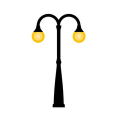 vintage streetlight on white background vector image vector image