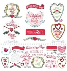 Wedding decor elements setlabelscards vector