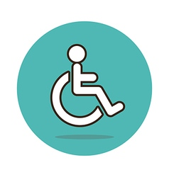 Wheelchair flat icon Medical vector image