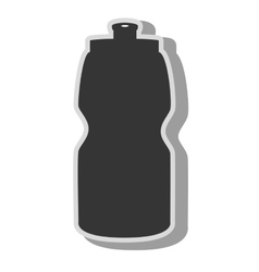 Water bottle sport icon vector