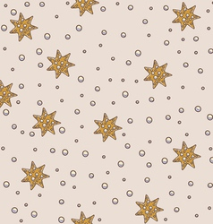 Star and pearls seamless pattern vector image