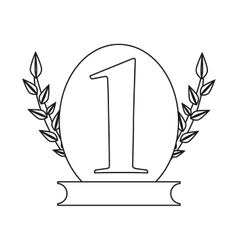 Isolated trophy for number one design vector