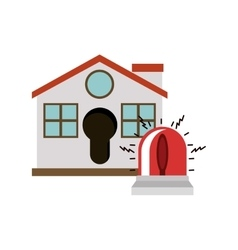 Isolated house and alarm design vector