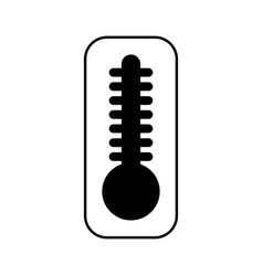Thermometer temperature isolated icon vector