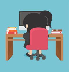 business woman working on computer vector image