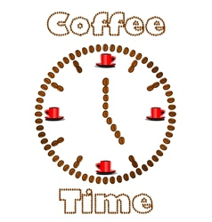 Watch made of coffee beans vector image