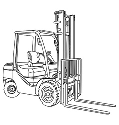 Forklift outline vector