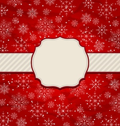 Christmas vintage invitation with snowflakes vector