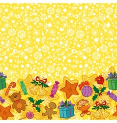 Christmas holiday seamless pattern vector image