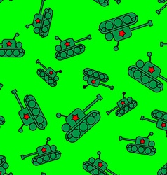 Seamless tank pattern vector