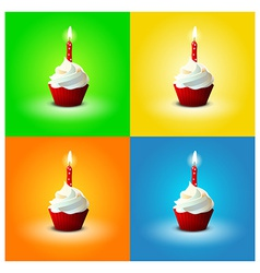 Cake for birthday on different backgrounds eps 10 vector