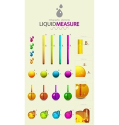 Infographic liquid elements vector