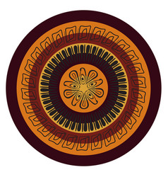 Abstract mandala in the african style vector