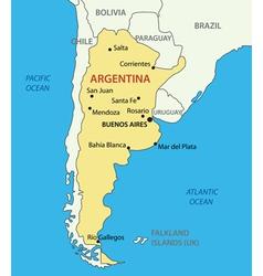 Argentine republic argentina - map vector