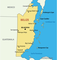 Belize - map vector image
