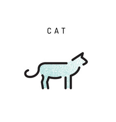 cat icon outline vector image vector image