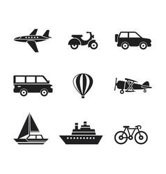 Digital black travel transport vector