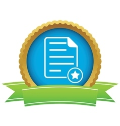 Favorite document certificate icon vector