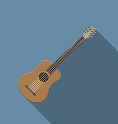 Flat design modern of acoustic guitar icon music vector image