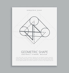 Geometrical shape symbol vector