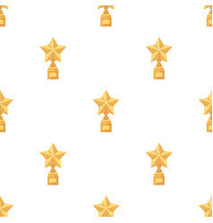 gold prize in the shape of a star on a standthe vector image vector image