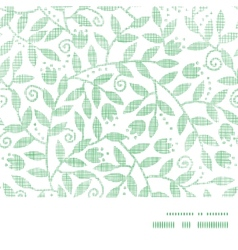 Leaves and swirls textile horizontal frame vector image