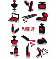 make-up silhouettes vector image vector image