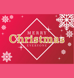 merrry christmas everyone vector image vector image
