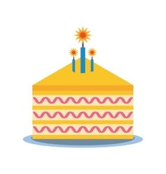 Party piece cake icon image vector