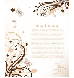 Romantic floral brochure template vector