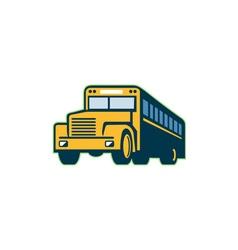 School bus vintage retro vector