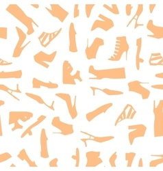 Seamless pattern of brown women shoes vector image vector image