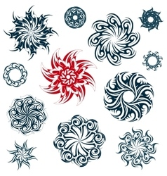Set of ethnic ornaments vector image vector image