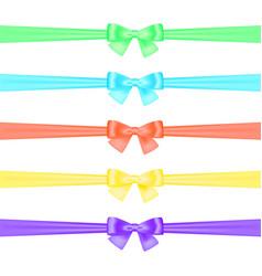 Set of satin ribbons vector