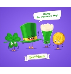 Set of sint patrick day characters cute vector image vector image