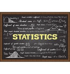 statistics vector image vector image