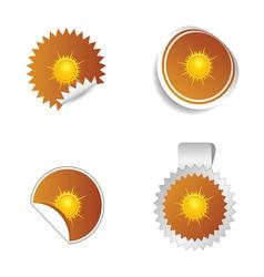 Sticker weather forecast sun vector