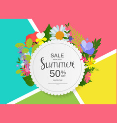 Summer sale abstract background vector
