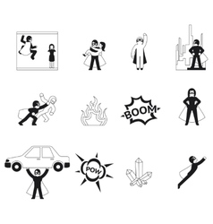 Superhero elements vector image vector image