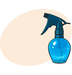 unlabeled transparent plastic hairdresser spray vector image vector image